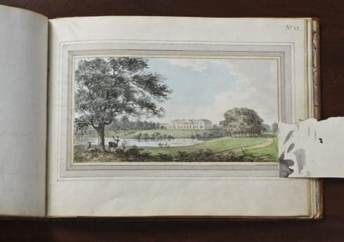 Repton's 'Tatton Park in Cheshire', part of the Library collection at Tatton Park, Cheshire.