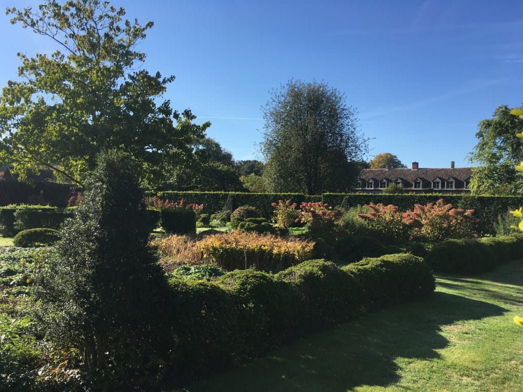 The second quadrangle in the walled garden at Hemelrijk