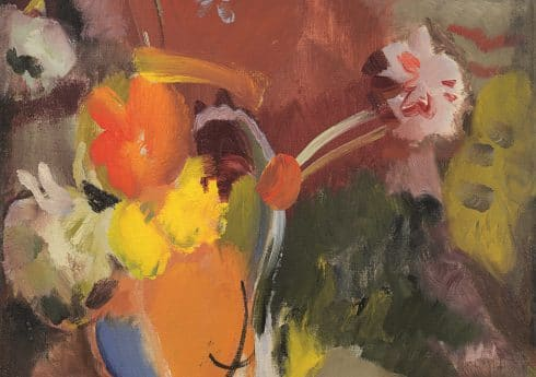Flowers, Red and Gold (1940) by Ivon Hitchens, Richard Green Gallery, London © The Estate of Ivon Hitchens. All rights reserved, DACS 2019