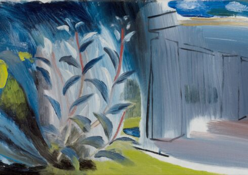 Irises - Greenleaves (c.1952) by Ivon Hitchens, private collection © The Estate of Ivon Hitchens. All rights reserved, DACS 2019