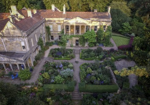Kiftsgate Court Gardens - aerial view