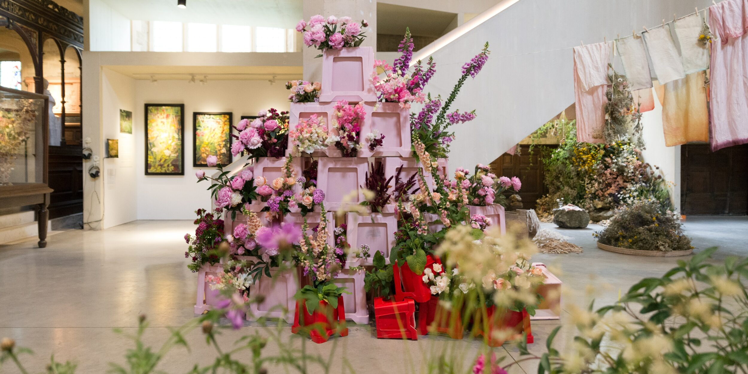 Bloom and Burn's British Flowers Week Installation