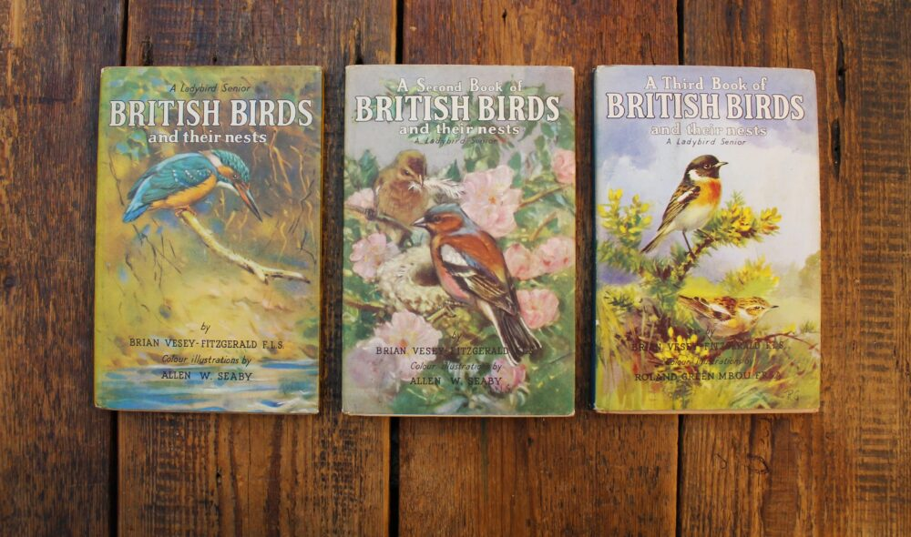 Alan Titchmarsh's childhood Ladybird Books, complete with his handwritten inscription on the inside cover.