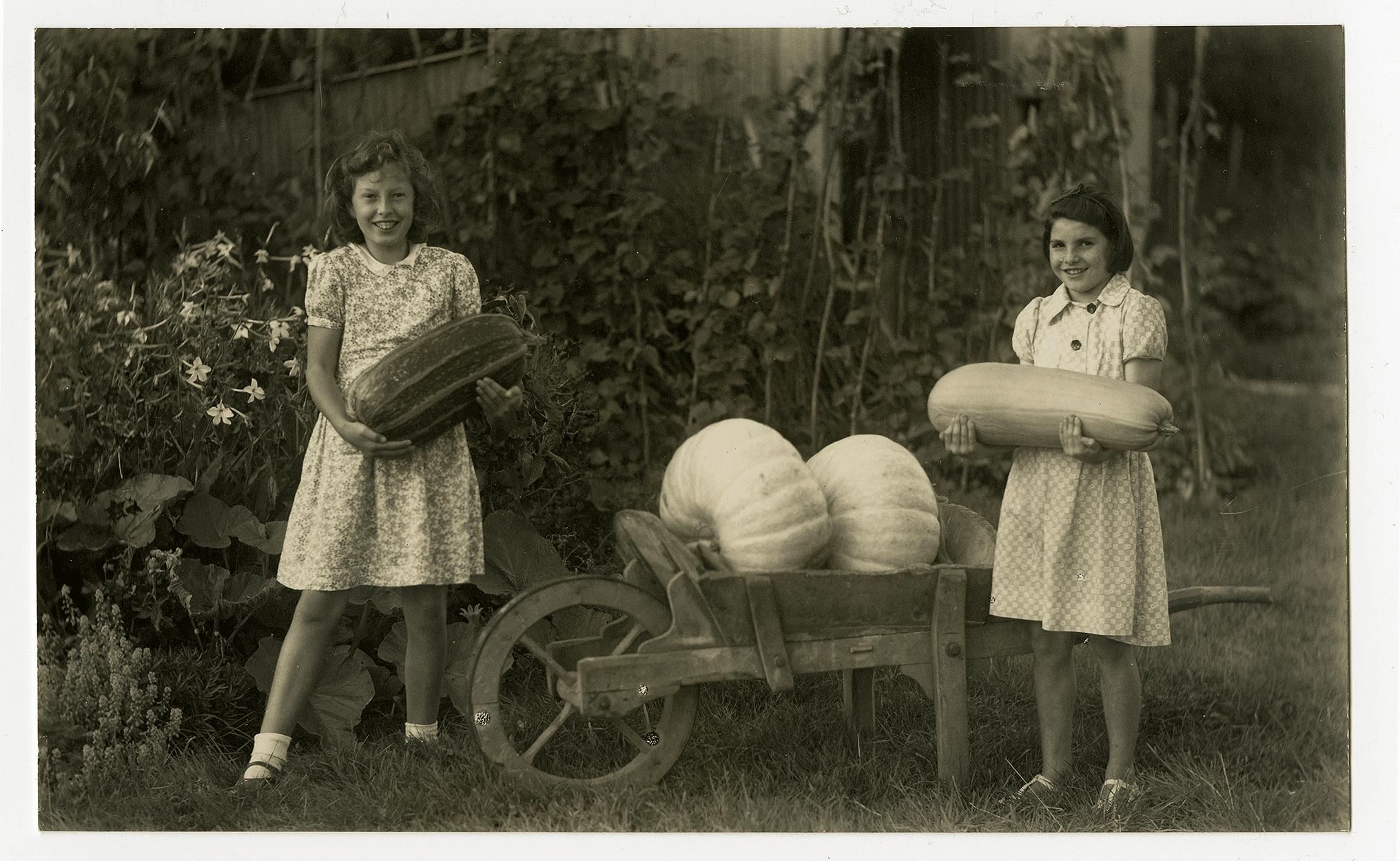 Girls with squash, c.1940