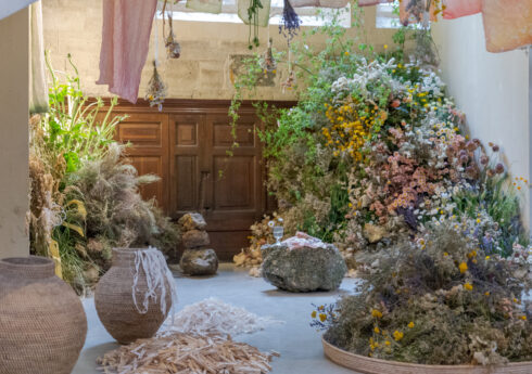 WORM installation at British Flowers Week 2019, photo by Graham Lacdao